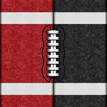 Red and Black Fantasy Football Team MVP by OldGlory