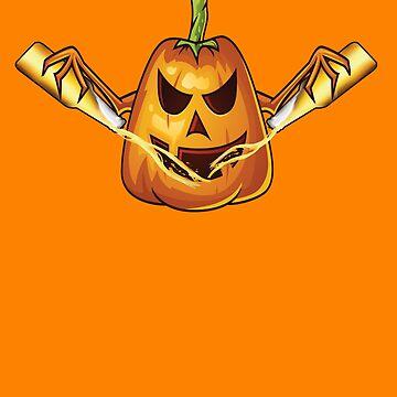 Let's Get Smashed Halloween Pumpkin by Jaxthedog