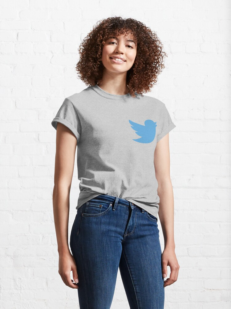 Alternate view of Twitter logo Classic T-Shirt