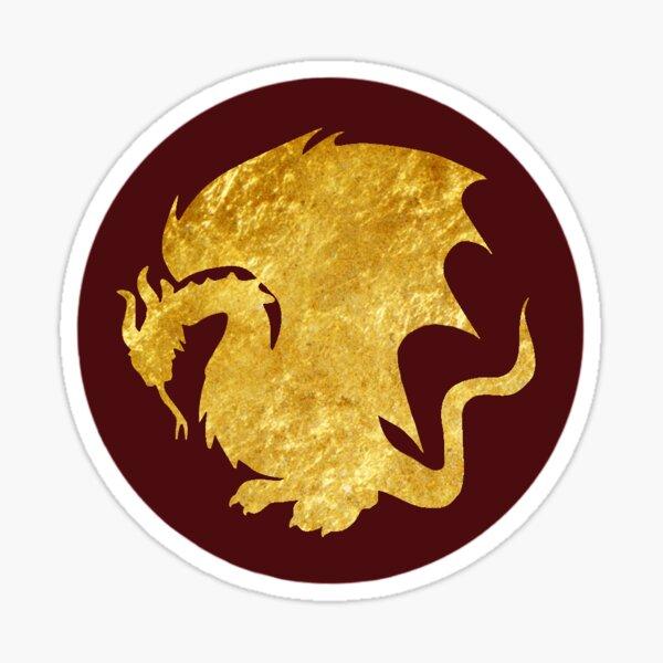 Pendragon Crest - Gold Sticker