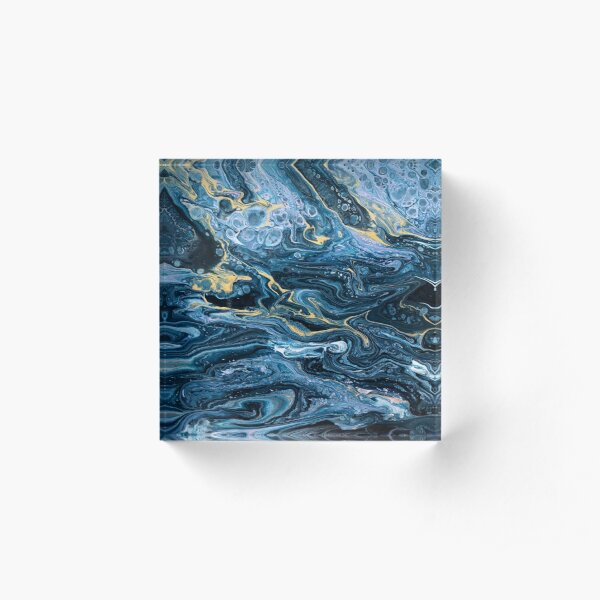 Acrylic Marble Pour Painting Acrylic Block