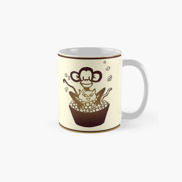 """Davenport Johnson """"Monkey Washing Cat"""" Mug Classic Mug"""