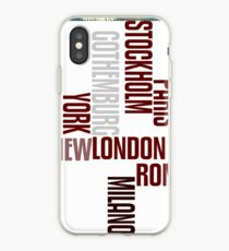 cities text iPhone Case