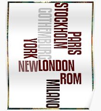 cities text Poster