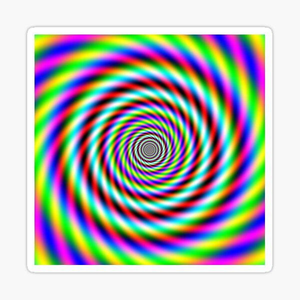 Hypnotic Spiral Sticker