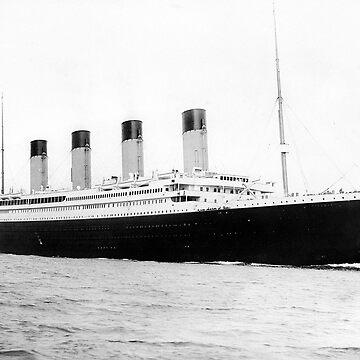 RMS Titanic departing Southampton on April 10, 1912. by TOMSREDBUBBLE