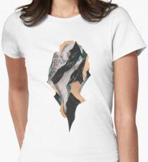 Abstract Brocken Island Planet Women's Fitted T-Shirt