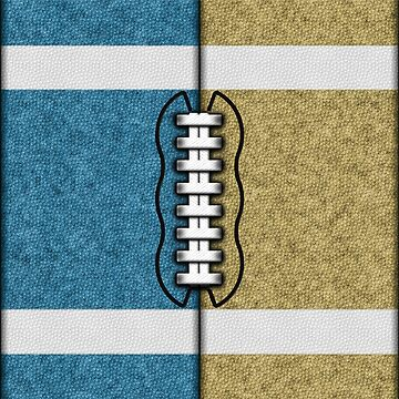 Teal and Gold Fantasy Football Team MVP by OldGlory