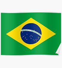 Flag of Brazil Horizontal Poster