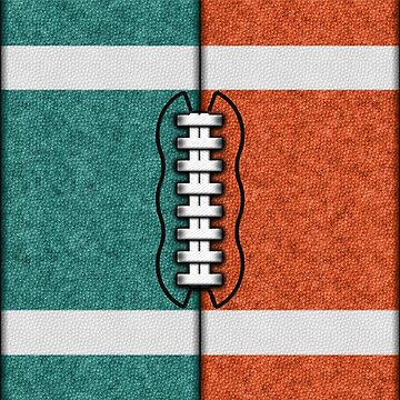 Teal and Orange Fantasy Football Team MVP by OldGlory