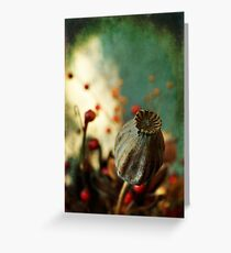 Dried plants in a pot... Greeting Card