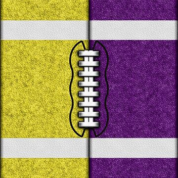 Yellow and Purple Fantasy Football Team MVP by OldGlory