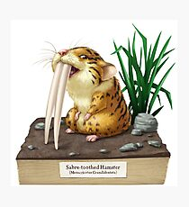 Sabre-toothed Hamster Photographic Print