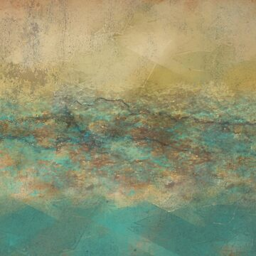 Turquoise and Natural Abstract Painting by Jessielee72