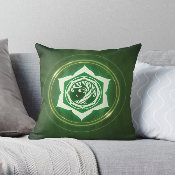 Champions of Hara Leaf Sigil Throw Pillow