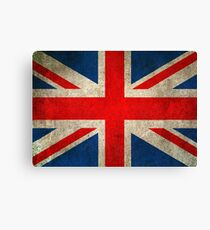 Old and Worn Distressed Vintage Union Jack Flag Canvas Print