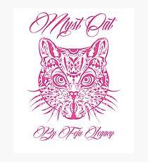 Lámina fotográfica Myst cat
