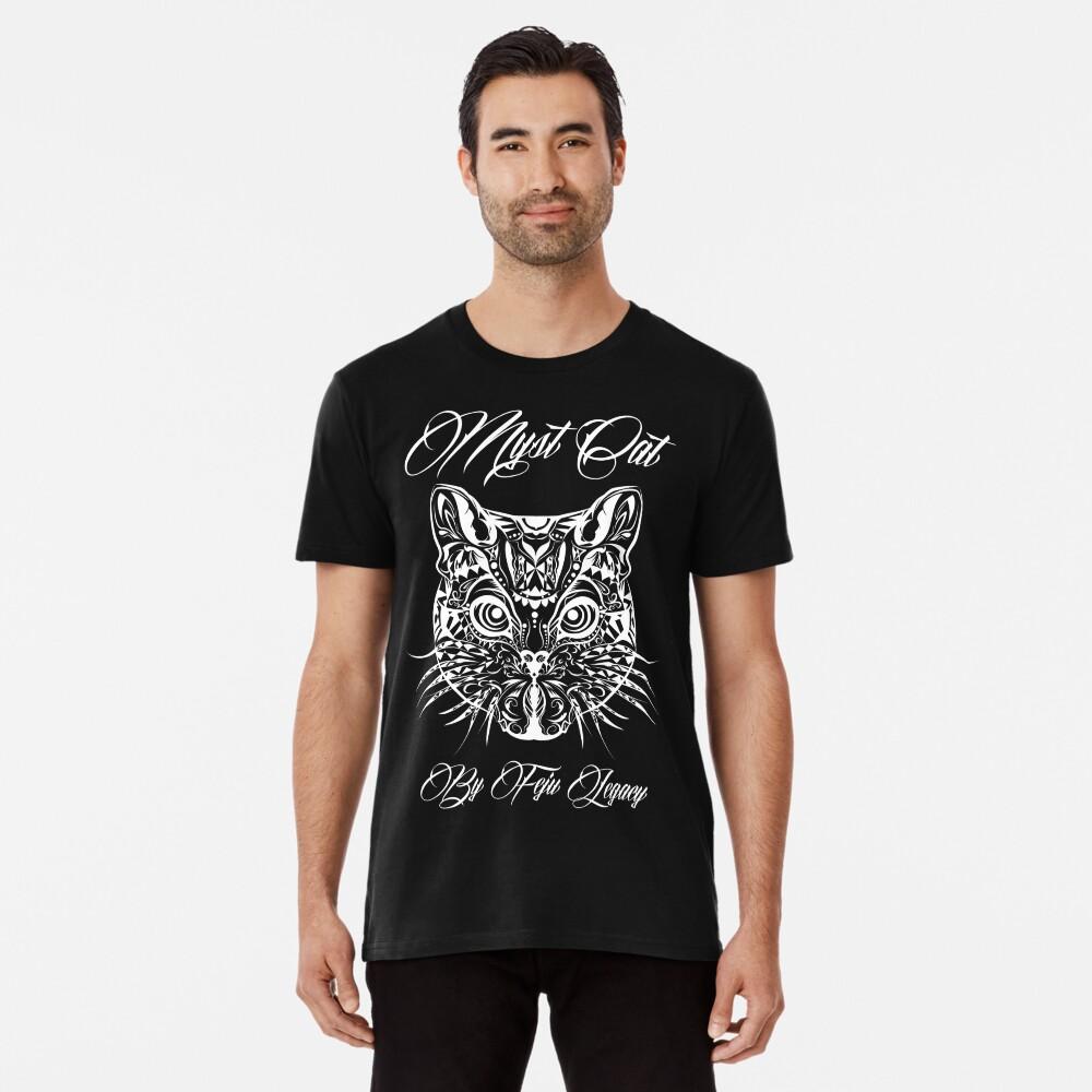 Gato myst Camiseta premium