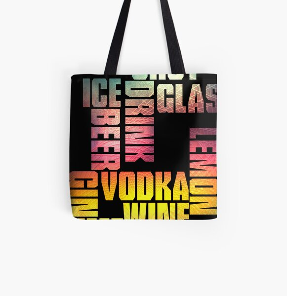 Drink 3 All Over Print Tote Bag