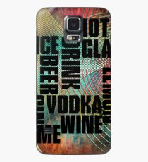 Drink text Case/Skin for Samsung Galaxy