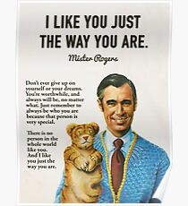 Mr Rogers Inspiring Quotes Poster
