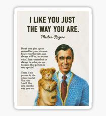 Mr Rogers Inspiring Quotes Sticker