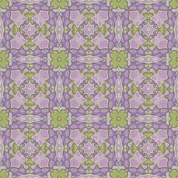 Violet Pink Green Purple Hip Orient Bali Art by FudgePudge