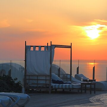 Santorini Sunset by lenzart