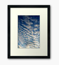 Spiny Clouds Framed Print