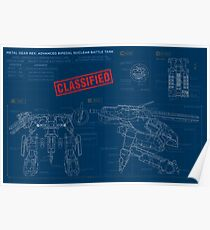 Metal Gear Solid Rex - Blueprints Poster