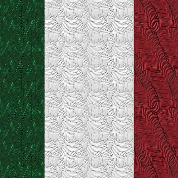 Flag of Italy Art Deco Swing by CecelyBloom