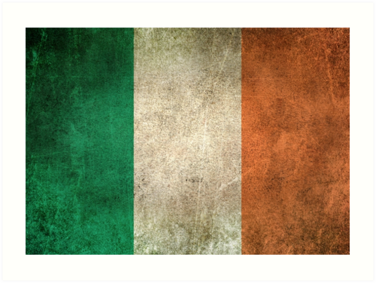 Quot Old And Worn Distressed Vintage Flag Of Ireland Quot Art