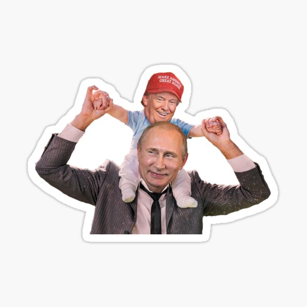 Putin and Trump smiling Sticker