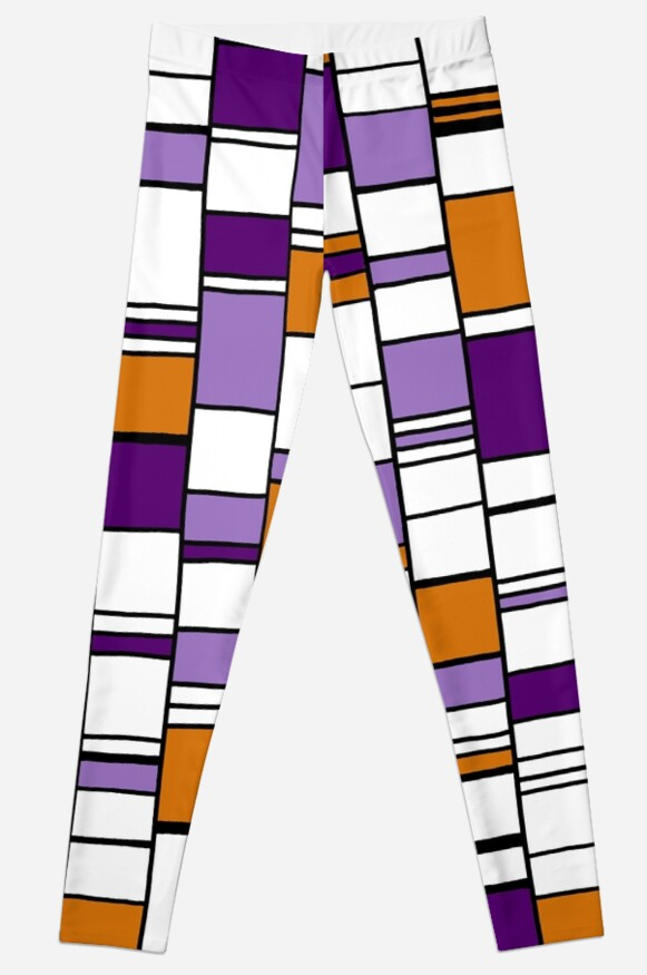 Purple & Orange Columns by Clare Wuellner