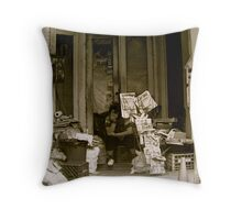 Minding the Store Throw Pillow