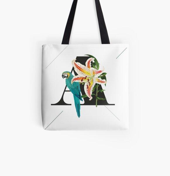 Botanical Alphabet A Allover-Print Tote Bag
