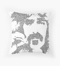 Garabato Frank Zappa Throw Pillow