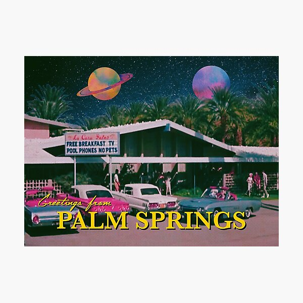 greetings from palm springs Photographic Print