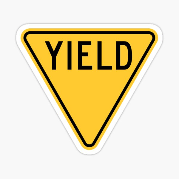 Yield Sign Sticker