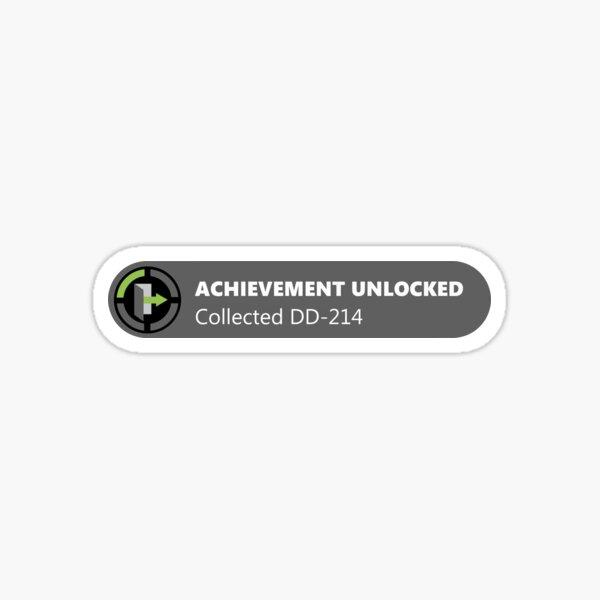 Achievement Unlocked DD-214  Sticker