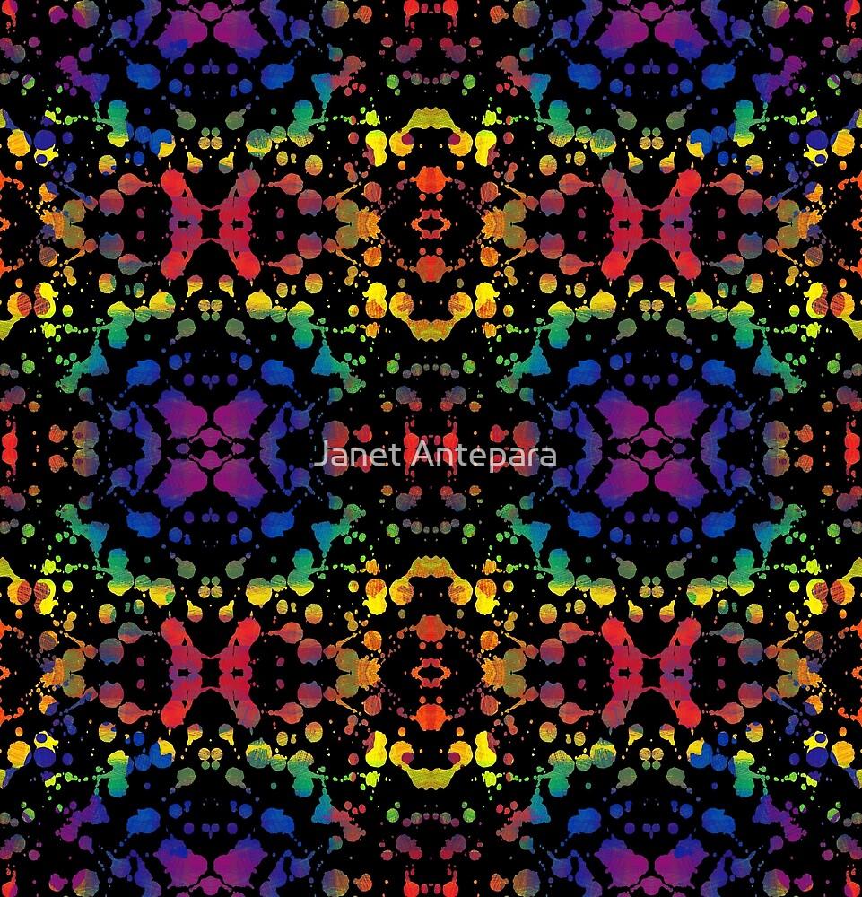 Rainbow Splash, Black by Janet Antepara