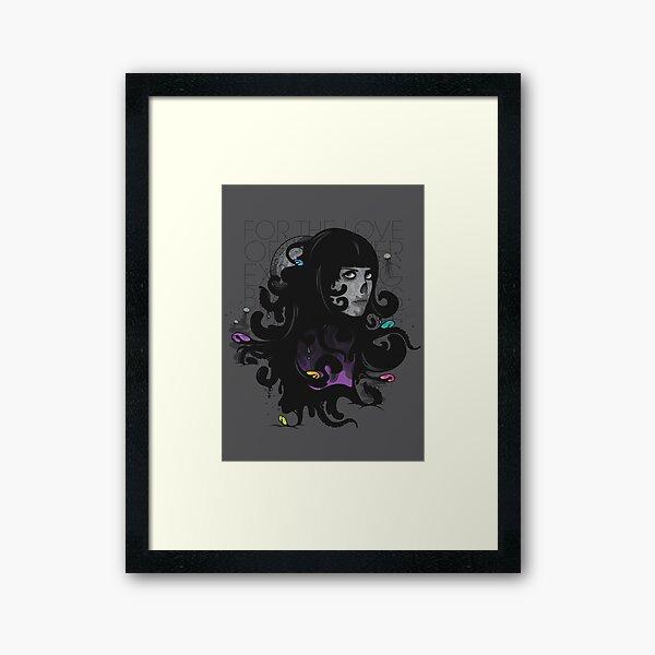 For the Love of the Ever Expanding Black Mass Framed Art Print
