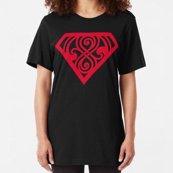 Last Son Of Gallifrey - Red Slim Fit T-Shirt