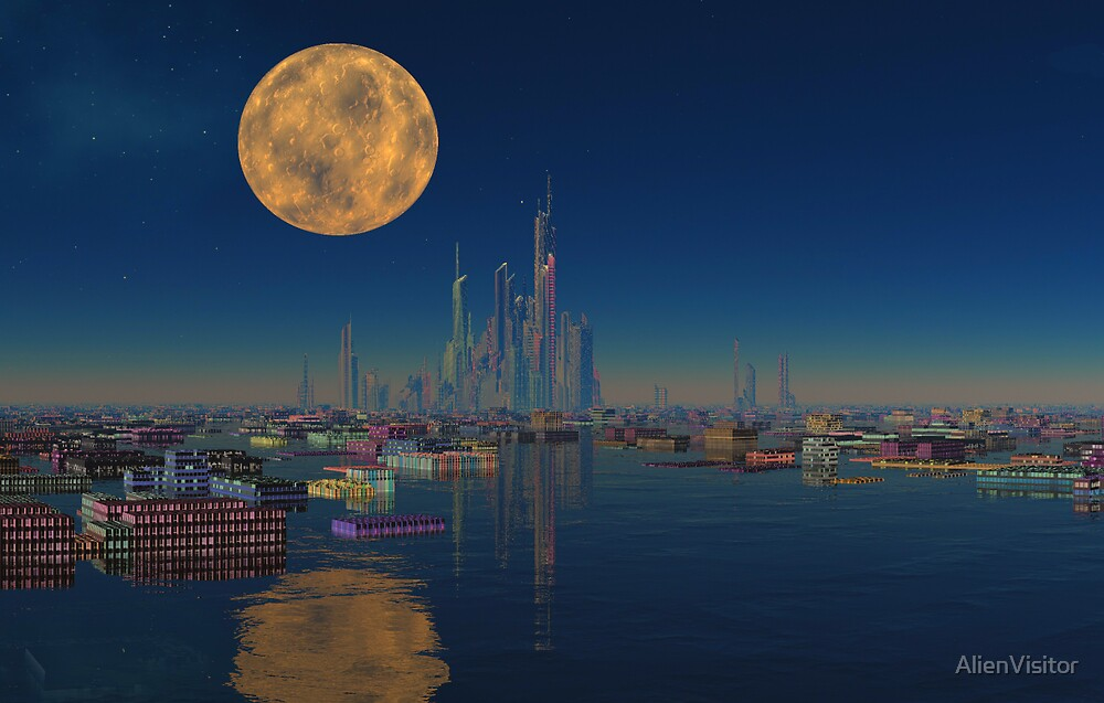 City on the Bay by AlienVisitor