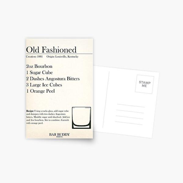 Old Fashioned Recipe Postcard
