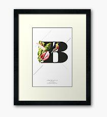 Botanical Alphabet B Gerahmtes Wandbild