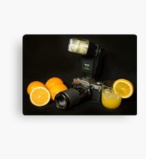 Olympus and the Oranges  Canvas Print