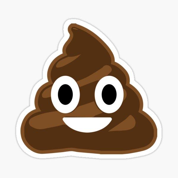 Merde Emoji Face Sticker