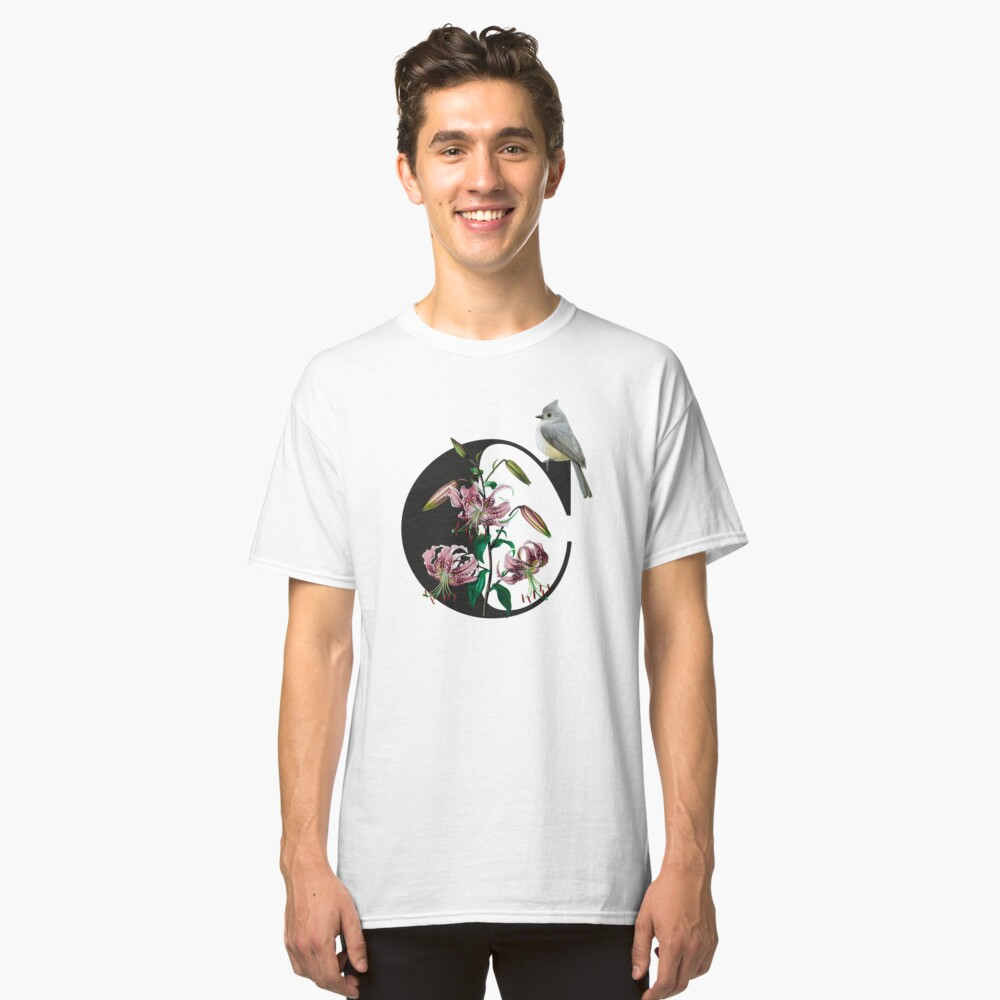 Botanical Alphabet C Classic T-Shirt