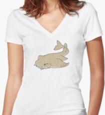 Angel shark Women's Fitted V-Neck T-Shirt